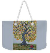 Girl And Leafs Weekender Tote Bag