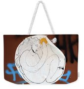 Girl And Sun Weekender Tote Bag