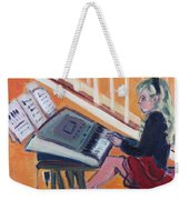 Girl At Keyboard Weekender Tote Bag