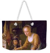Girl Chopping Onions Weekender Tote Bag