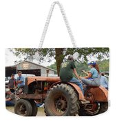 Girl Driving A Tractor Weekender Tote Bag