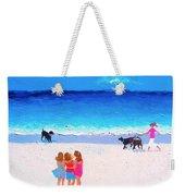 Girl Friends - Beach Painting Weekender Tote Bag