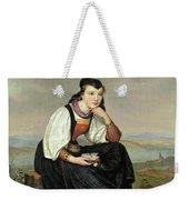Girl From Hessen In Traditional Dress Weekender Tote Bag