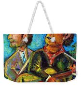 Girl From North Country Johnny Cash And Bob Dylab Weekender Tote Bag