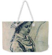 Girl Hell 1882 Ilya Repin Weekender Tote Bag