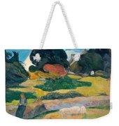Girl Herding Pigs Weekender Tote Bag by Paul Gauguin
