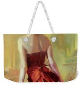Girl In A Copper Dress I Weekender Tote Bag