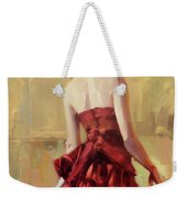 Girl In A Copper Dress II Weekender Tote Bag