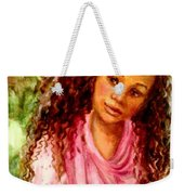 Girl In A Pink Dress Weekender Tote Bag