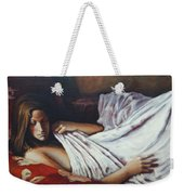Girl In A Red Chair Weekender Tote Bag