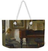 Girl In An Interior Weekender Tote Bag