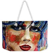 Girl In Blue And Gold Weekender Tote Bag