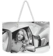 Girl In Car Weekender Tote Bag