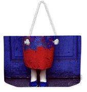 Girl In Colorful Flower Dress Weekender Tote Bag