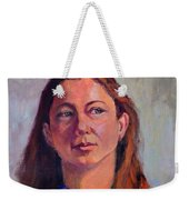 Girl In Purple Weekender Tote Bag