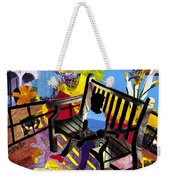 Girl In Red Shoes Weekender Tote Bag by Everett Spruill