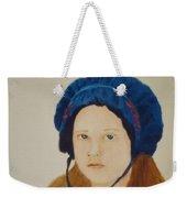 Girl In The Blue Bonnet Weekender Tote Bag