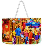 Girl In The Cafe Weekender Tote Bag