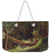 Girl In The Hammock Weekender Tote Bag