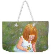 Girl In The Meadow Weekender Tote Bag