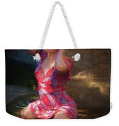 Girl In The Pool 10 Weekender Tote Bag