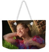 Girl In The Pool 9 Weekender Tote Bag