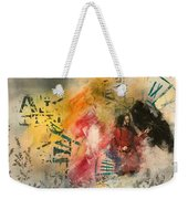 Girl In Time Weekender Tote Bag