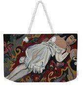 Girl In White Chemise Weekender Tote Bag