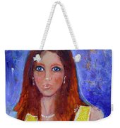 Girl In Yellow Dress Weekender Tote Bag
