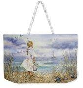 Girl And Ocean Watercolor Weekender Tote Bag