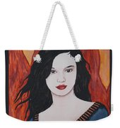 Girl Of Fire Weekender Tote Bag
