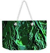 Girl Of Green Weekender Tote Bag