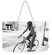 Girl On Bike Sculpture Grand Junction Co Weekender Tote Bag