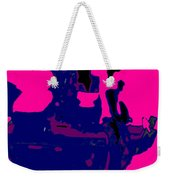 Girl Passing Coconut Vendor Reading Weekender Tote Bag