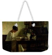 Girl Reading In An Interior  Weekender Tote Bag