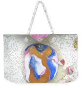 Girl Spreading Hearts Weekender Tote Bag