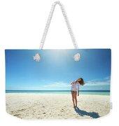 Girl Under The Sunshine Weekender Tote Bag