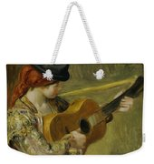 Girl With A Guitar Weekender Tote Bag