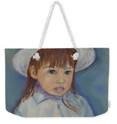 Girl With A Hat Weekender Tote Bag