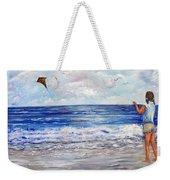 Girl With A Kite Weekender Tote Bag