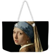 Girl With A Pearl Earring Weekender Tote Bag by Jan Vermeer