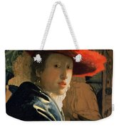 Girl With A Red Hat Weekender Tote Bag