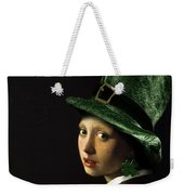 Girl With A Shamrock Earring Weekender Tote Bag