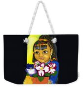 Girl With African Violet Weekender Tote Bag