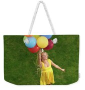 Girl With Air Balloons Weekender Tote Bag