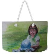 Girl With Ball Weekender Tote Bag