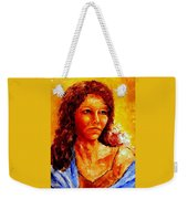 Girl With Blue Shawl Weekender Tote Bag