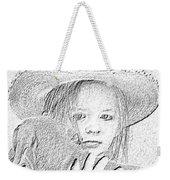 Girl With Dog Weekender Tote Bag