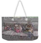 Girl With Dolls Weekender Tote Bag