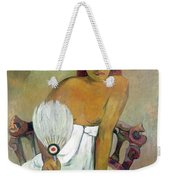 Girl With Fan Weekender Tote Bag